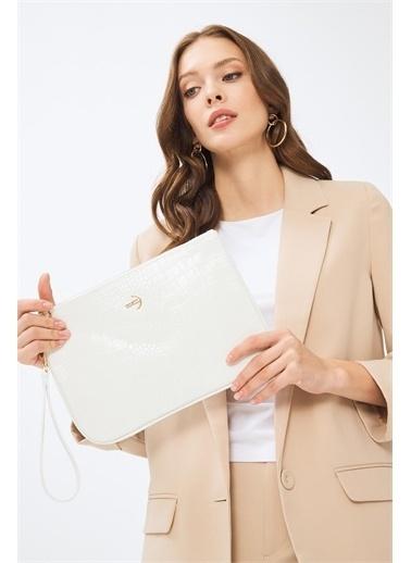 Deri Company Clutch / El Çantası Beyaz